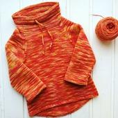 Пуловер «Мандариновое счастье»