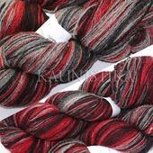Пряжа Кауни Grey-Red (Снегирь)