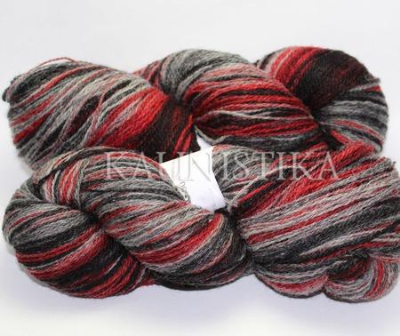 Пряжа Кауни Grey-Red (Снегирь) ручной работы на заказ