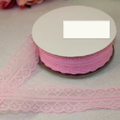 Кружево капрон цвет розовый 25мм