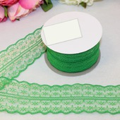 Кружево капрон цвет зелёный 45мм