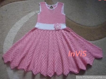 """Платье """"Розовый фламинго"""" ручной работы на заказ"""
