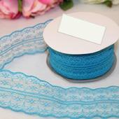 Кружево капрон цвет голубой 45мм