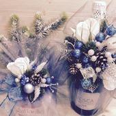 Новогоднее украшение на шампанское и конфеты