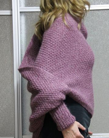 Свитер-шарф. Шарф с рукавами ручной работы на заказ