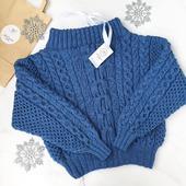 Вязаный свитер Рубан ручной вязки купить