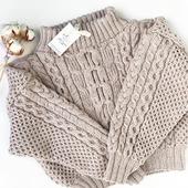Вязаный свитер Рубан ручной вязки