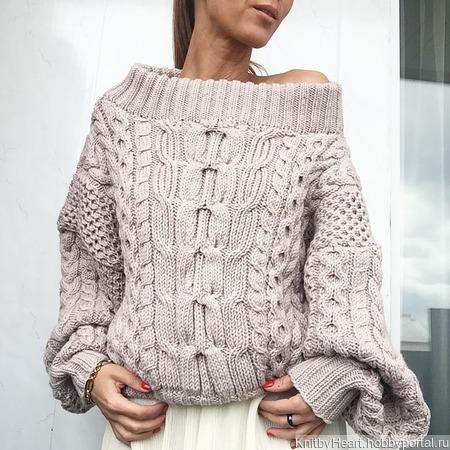 Вязаный свитер Рубан ручной вязки ручной работы на заказ