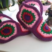 Тапочки вязанные