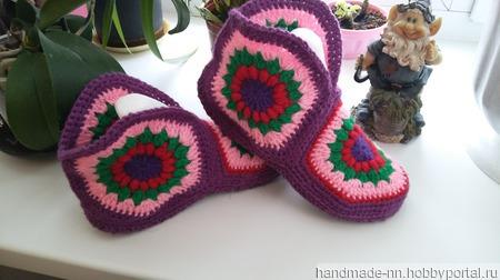 Тапочки вязанные ручной работы на заказ