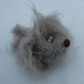 Вязаный щенок Чапка  -  вязаная игрушка