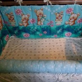 Бортики в кроватку с мишками