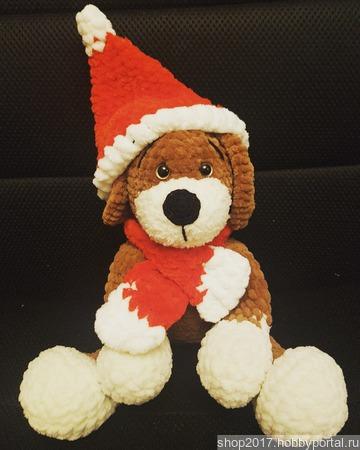Новогодний щенок ручной работы на заказ