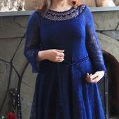 Платье из мохера с бисером