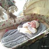 Конверт на выписку, в коляску,  кокон, одеяло