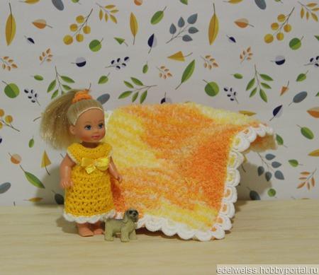 """Комплект """"Солнечный"""" для маленьких куколок Evi, Shelly, Kelly ручной работы на заказ"""