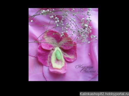 """Брошь """"Орхидея"""" ручной работы на заказ"""