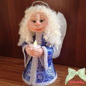 Ангел со свечей чулочная кукла