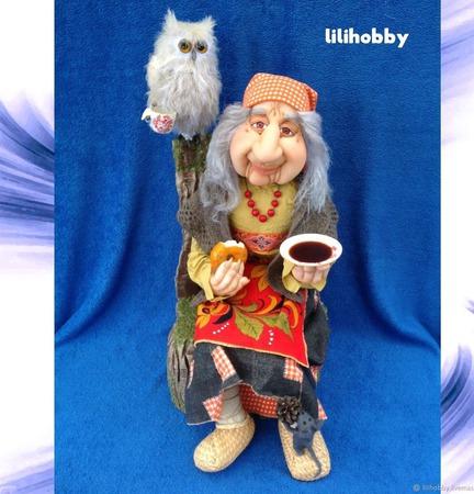 Кукла Баба Яга в тёплой компании ручной работы на заказ