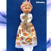 Пакетница Дуся (чулочная кукла)