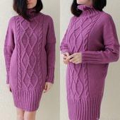 Вязаное платье свитер ручной работы в Москве