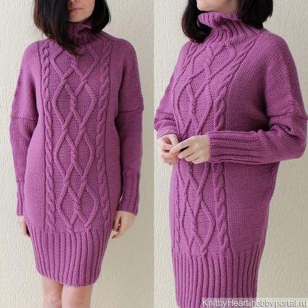 Вязаное платье свитер ручной работы в Москве ручной работы на заказ