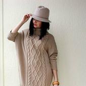 Вязаное платье свитер ручной вязки в Москве