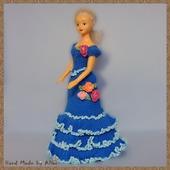 Вязаные платье для Барби и Мокси