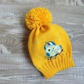 Желтая шапочка с совами