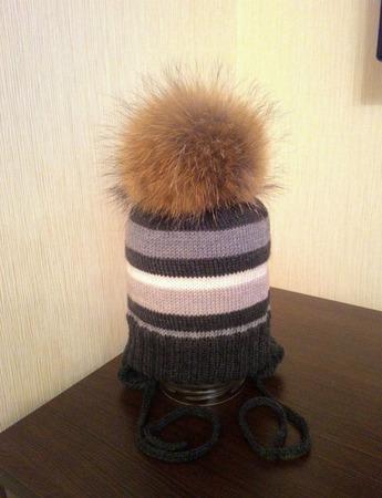 Полосатая шапка для мальчика ручной работы на заказ