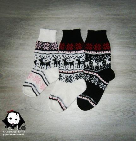 Носки с норвежскими узорами ручной работы на заказ