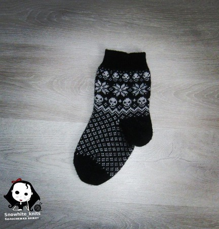 Носки с черепами ручной работы на заказ