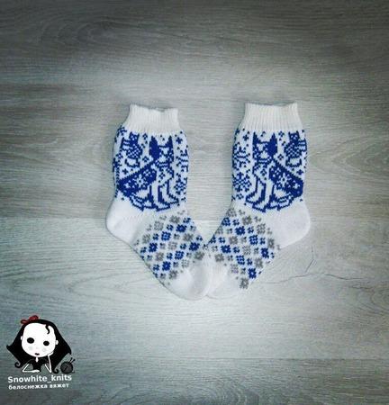 Детские носочки с собакой ручной работы на заказ