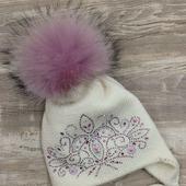 Зимняя шапочка для красотки!