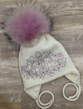 Зимняя шапочка для красотки! ручной работы на заказ