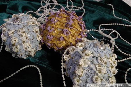 Мастер-класс по изготовлению текстильного новогоднего шарика. ручной работы на заказ