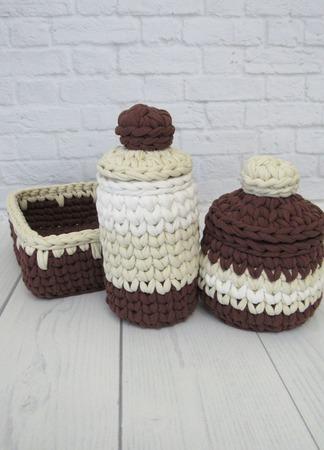 Комплект корзин для хранения в ванной ручной работы на заказ