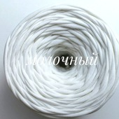Трикотажная пряжа Виктория Цвет: Молочный