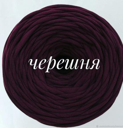 Трикотажная пряжа Виктория Цвет: Черешня. ручной работы на заказ
