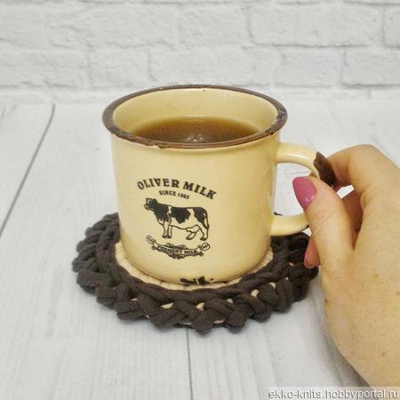 """Подставки под чашки """"Кофе с молоком"""" ручной работы на заказ"""