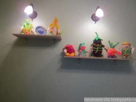 Вязаные овощи-человечки для украшения кухни ручной работы на заказ