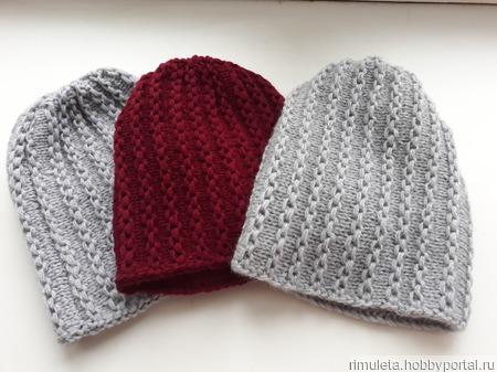 Шапки вязаные женские зимние ручной работы на заказ