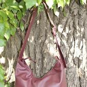"""""""Вишня"""" сумка на каждый день,  натуральная кожа."""