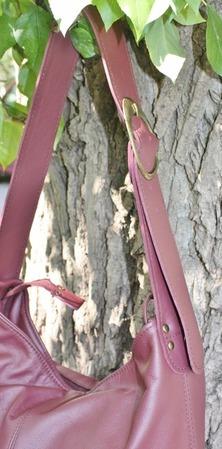 """""""Вишня"""" сумка на каждый день,  натуральная кожа. ручной работы на заказ"""