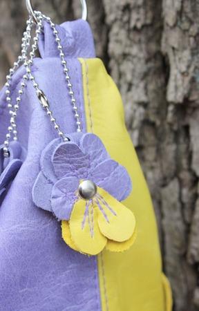 Летняя сумка из натуральной кожи. ручной работы на заказ