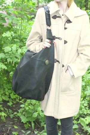 """Очень Большая черная сумка """"Подарок"""" натуральная кожа ручной работы на заказ"""