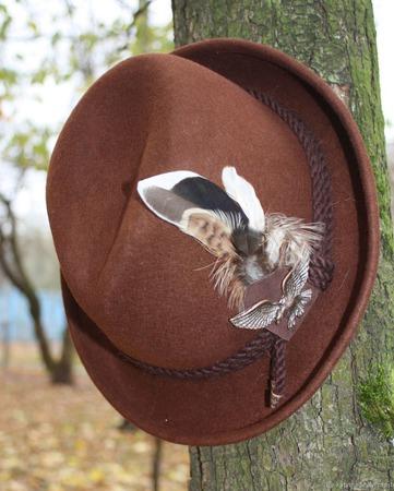 """""""Тирольская"""" шляпа ... подарок охотнику ручной работы на заказ"""