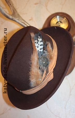 Охотничья  шляпа ручной работы на заказ