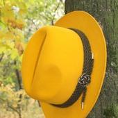 """""""Желтая!"""" Шляпа женская фетровая"""