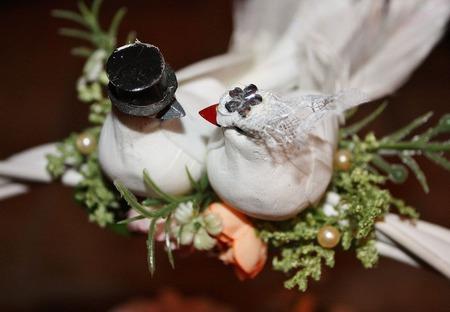 """Корзина свадебная  из конфет """"Ах, эта свадьба!..."""" ручной работы на заказ"""